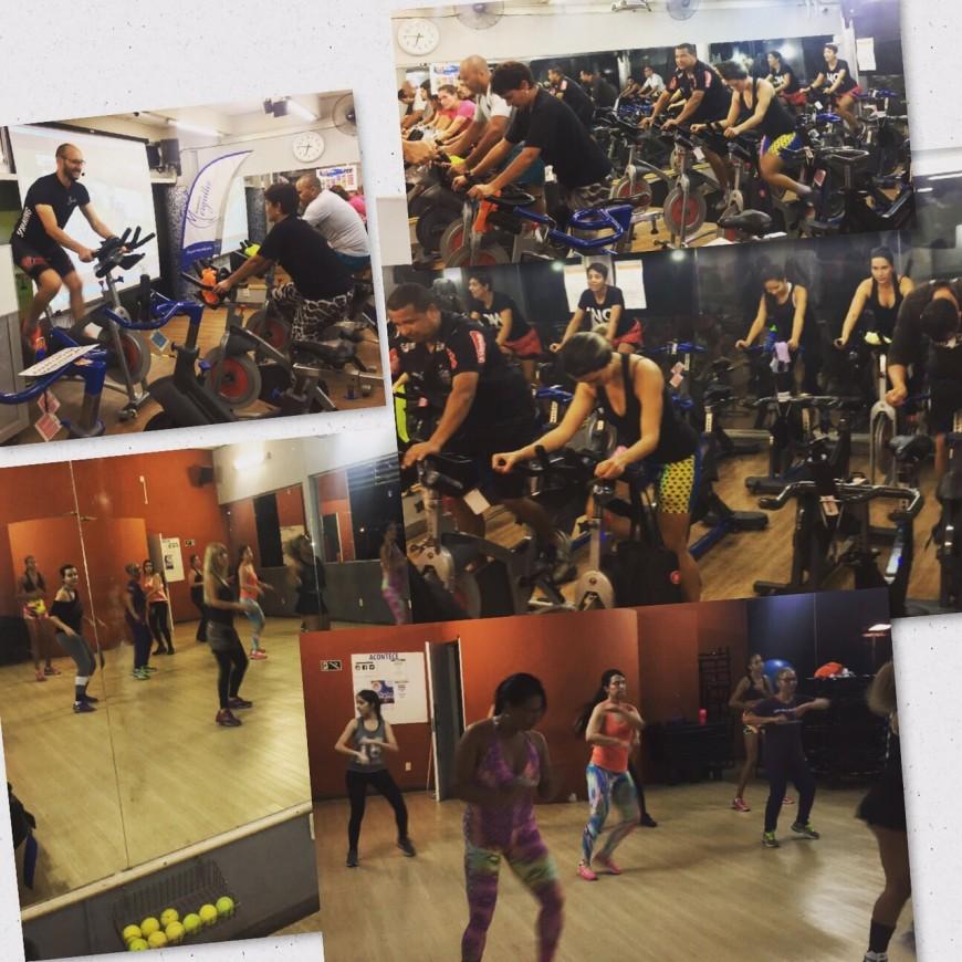 SPINNING INDOOR CYCLING E ZUMBA ACADEMIA MERGULHO BARREIRO BH 12 JUNHO 2017