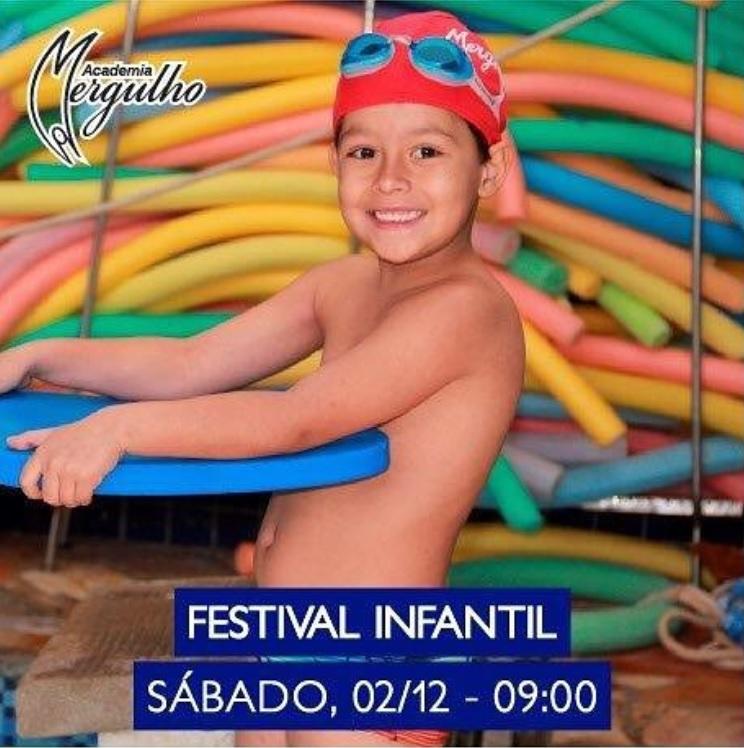 FESTIVAL INTERNO NATAÇÃO INFANTIL ACADEMIA MERGULHO 13 NOVEMBRO 2017