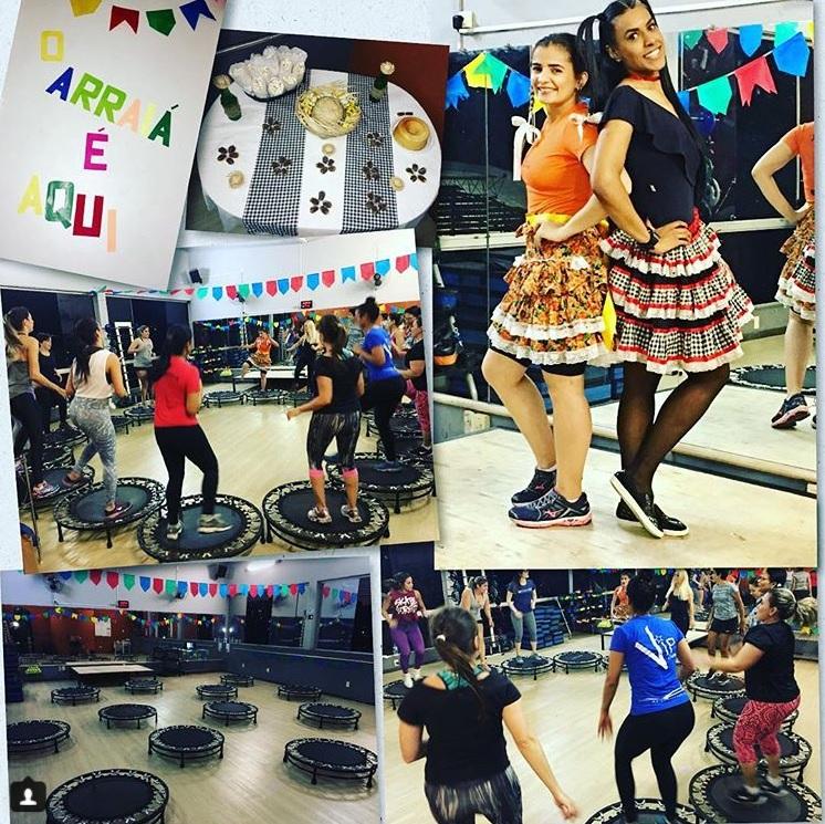 GINASTICA COLETIVA ACADEMIA MERGULHO BH BARREIRO ARRAIA FESTA JULINA JUMP STEP LOCAL AERO BOXE ZUMBA BALLET FIT JULHO 2018