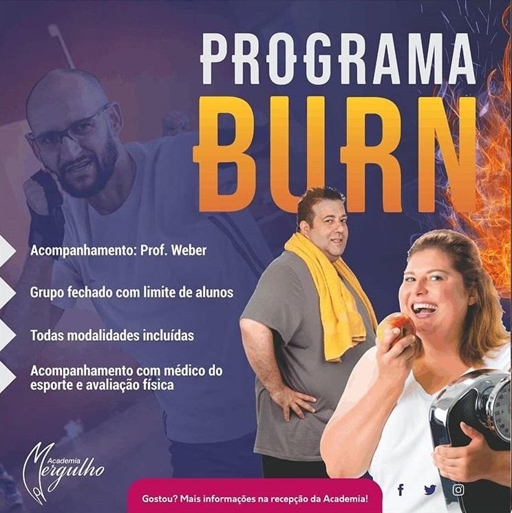 PROGRAMA BURN PROFESSOR WEBER ACADEMIA MERGULHO BH BARREIRO AGOSTO 2019