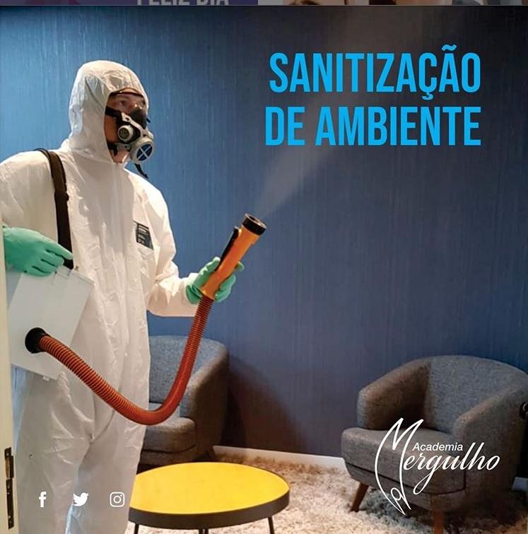 SANITIZACAO DE AMBIENTES ACADEMIA MERGULHO PANDEMIA COVID 2020